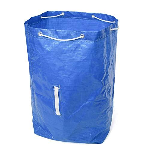 Desechos De Jardín Bolsas Bag Del Jardín De Residuos Reutilizables Escombros Saco Bolsa Hoja Bolsa De Mano Rechoncha Jardín Escombros Contenedor Para Residuos Al Aire Libre Del Césped Colección Azul
