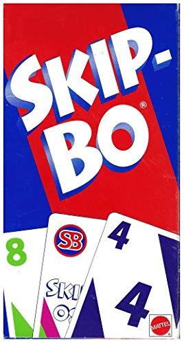 Mattel Uno Skip-Bo Card Game Plastic 162 pc.