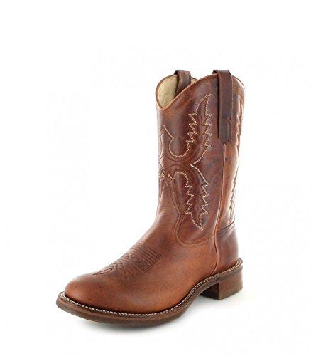Sendra Boots 11615 Evolution Tang Lederstiefel für Damen und Herren Braun Westernreitstiefel, Groesse:41