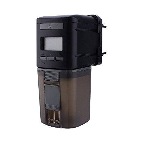 ksjdjok Alimentador automático de Peces Peces de Acuario Comida para Peces de Acuario Exhibición LCD automática Temporizador Dispensador de alimentación Ajustable alimentador automático WiFi