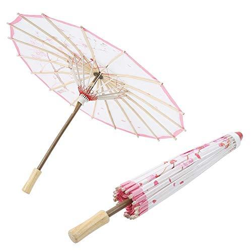 Mumusuki Paraguas de Papel engrasado Hecho a Mano Arte Chino Decoración de Paraguas de Danza clásica Sombrilla Vintage para Danza Realizar Apoyo de Boda(Tipo 3)
