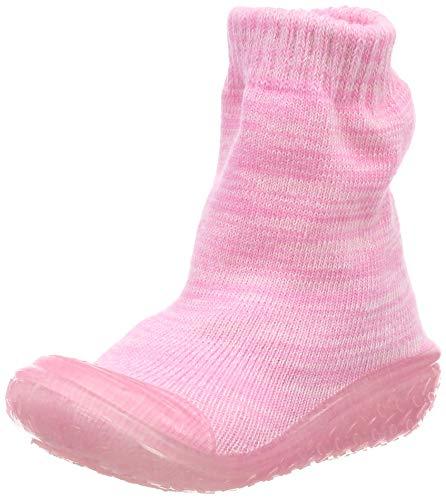 Playshoes Unisex-Kinder Socke gestrickt Hohe Hausschuhe, Pink (Rosa 14), 24/25 EU