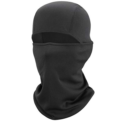 WTACTFUL Balaclava Cooling Cover Face Mask Windproof, Dust, UV Protection for Cycling Biker Hunter Bicycle Motorcycle Hiking Hunting Climbing Running Racing Skiing Snowboarding Halloween Black