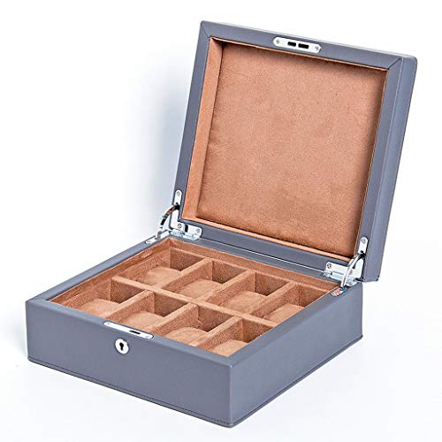 YZSHOUSE Estuche para Relojes, Caja para Reloj 8 Compartimentos, Organizador De Relojes para Guardar Joyerías Soporte De Exhibición De Relojes Pulsera PU (Color : A)