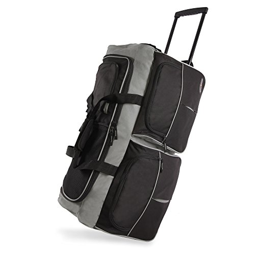 """Pacific Coast Signature 30"""" Large Rolling Duffel Bag, Black, One Size"""