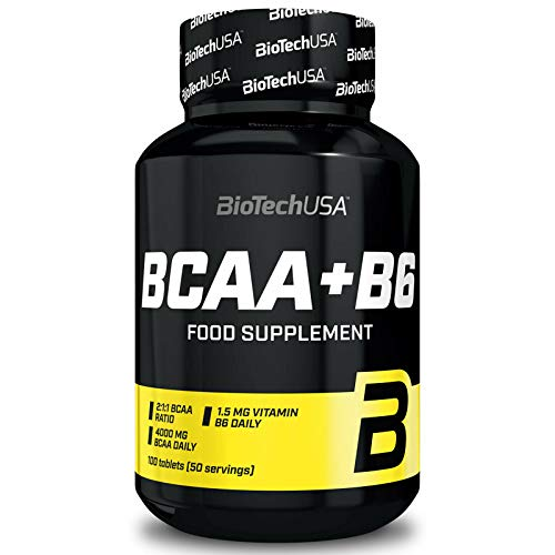 Biotech BCAA Plus B6 Supplement - Pack of 100 Tablets