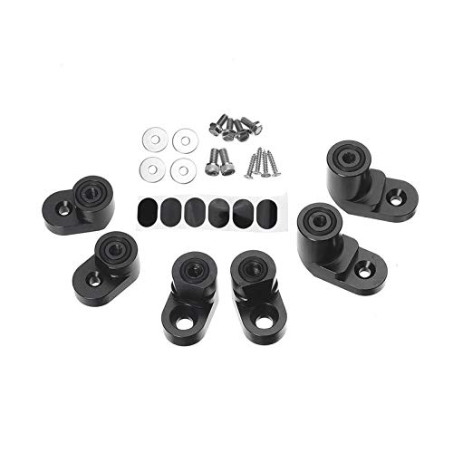 LIZCX Schwarz/Silber Auto-Hinterkofferraum-Spoiler-Wing-Riser-Verlängerung Schwanz-Winglift-Klammer-Kit Fit Ford Fit für Fiesta St-Fließheck 4DR 2014-19 (Color : Black)