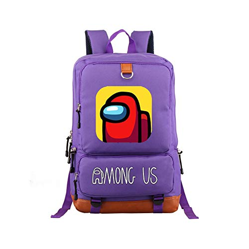 FUFU Among Us School Bag Men'S Ladies Boys Girls Teenagers Student Backpacks Outdoor Work Adult Oxford Canvas Travel Outdoor Large-Capacity Portable Backpack/E