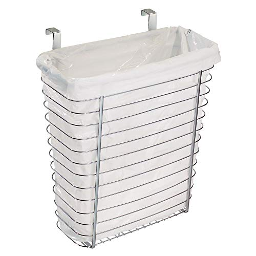 iDesign Axis Steel Over the Cabinet Storage Basket Organizer