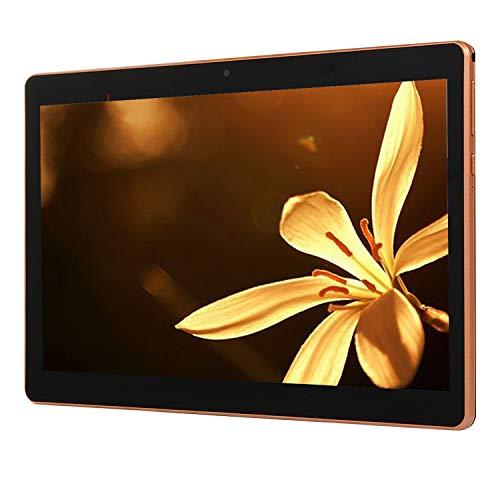 Viudecce Tableta de 10.1 Pulgadas Sistema Android, Quad Core IPS 1 + 16GB Tarjeta Dual Llamada 3G CáMaras Duales Tableta, Negro (Enchufe de la UE)