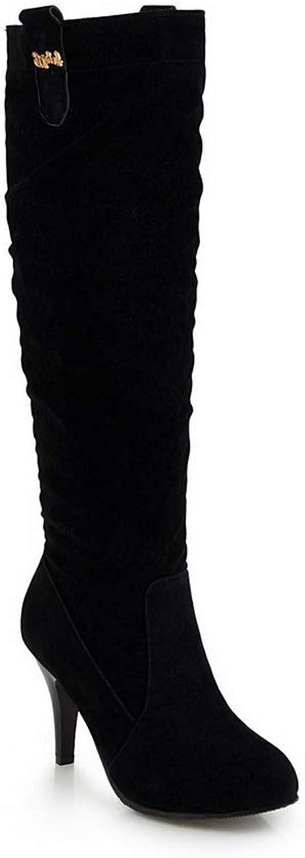 AN Womens Spikes Stilettos Imitated Suede Boots DKU02222