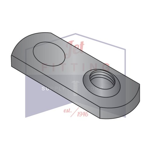 5/16-18 Tab Weld Nuts   Offset Hole   Single Projection Style   Steel   Plain Finish (Quantity: 1000)
