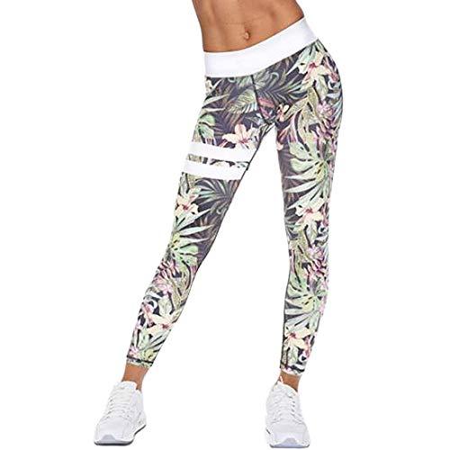 NoyoKere Mujer Pantalones Largos Deportivos Patrón de árbol Leggings para Running,Yoga y Ejercicio