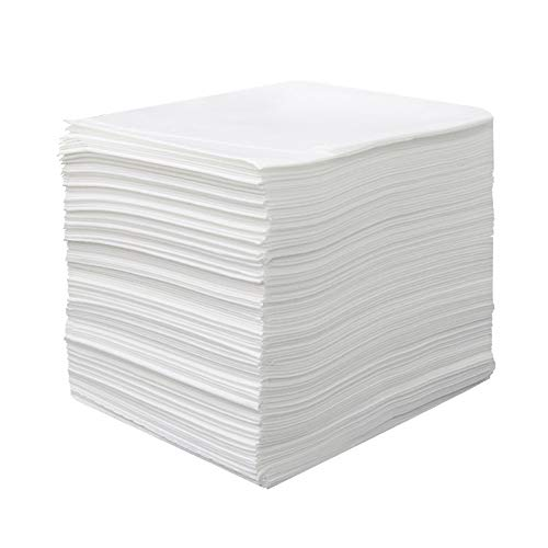 KKCD 40Pcs Disposable Bed Sheet Non-Woven,Disposable Waterproof Fabric Thickened Massage Bed Sheets Beauty Couch Covers for Beauty Salon,Massage,Hotels,White,80 * 180cm