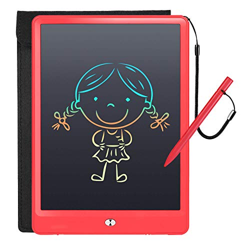 TUHUA LCD Writing Tablet 10 Inch Color Electronic Drawing Board Digital Rewritten Drawing Pad Multi Colour Durable Handwriting Toy for Kids Boy Girl Presents for Students