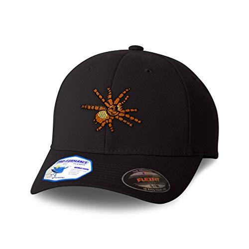Flexfit Hats for Men & Women Animal Wildlife Bug Insect Spider Tarantula Orange Polyester Dad Baseball Cap Black Design Only Small Medium