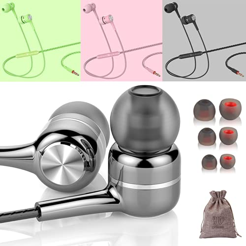 3 Pack Earbuds Ear Phones with Microphone Stereo Wired Phone mic Buds...