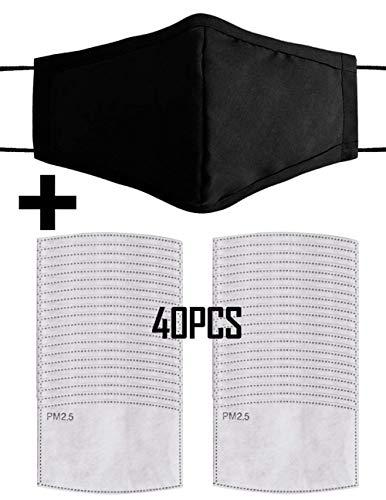 40PCS Reutilizable PM2.5 Polvo máscara Protectora Lavable Anti Haze máscara para bicicleta,  motocicleta,  esquí,  equitación al aire libre