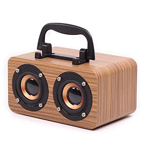 ZOUD Altavoz portátil compatible con Bluetooth Mayor volumen Crystal Clear Stereo Sound Rich Bass Wireless Range altavoz de madera altavoces de madera inalámbricos