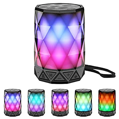 LED Portable Bluetooth Speakers with Lights, LF...