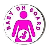 Pink Baby ON Board - Abrebotellas magnético (58 mm), diseño de bebé