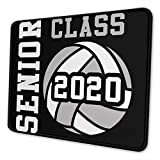 Volleyball Senior Class 2020 Non-Slip Mousepad Gaming Computer Mouse Pad Gaming Desktop Laptop Mouse Pad with Stitched Edge 10x12 in