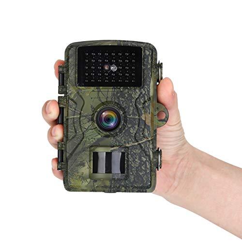 KIZOKU Mini cámara de Trail Wildlife Cámara 12MP 1080P HD sin brillo infrarrojo visión nocturna impermeable IP66 Caza Scouting Cámara con lente gran angular de 90° y LED LCD IR de 2 pulgadas