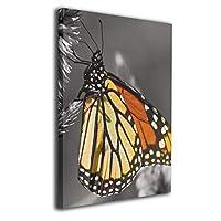 Skydoor J パネル ポスターフレーム オレンジ色の蝶黒と白 インテリア アートフレーム 額 モダン 壁掛けポスタ アート 壁アート 壁掛け絵画 装飾画 かべ飾り 50×40