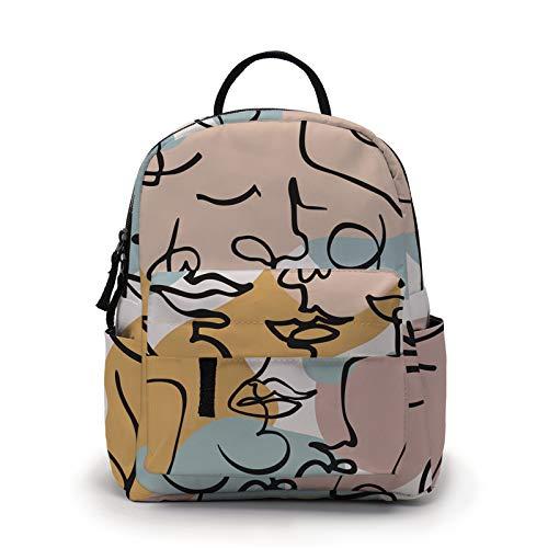 Mini Backpack for Girls Cute Print Bookbag Kids Preschool Backpacks Purse Kindergarten Book Bags for Teen Women(MNSB-31)