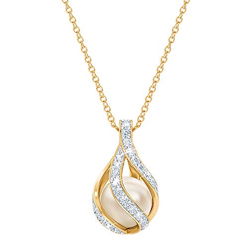 Love's Embrace Pearl & Diamond Necklace - Pearl Jewelry -...