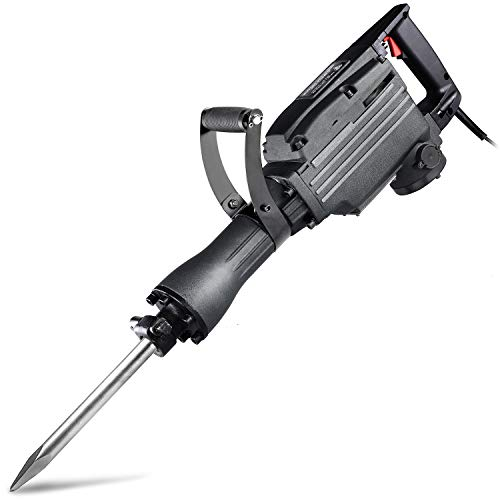 Neiko 02845A Electric Demolition Jack Hammer with Point and Flat Chisel Bits (Renewed)