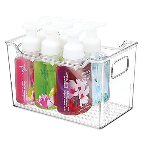 mDesign — Förvaringslåda för skönhetsprodukter — Låda i plast — Förvaringsbricka för badrummet — Transparent