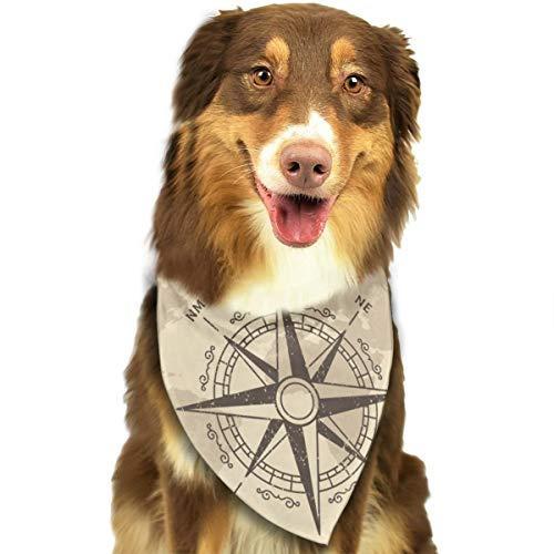 Hipiyoled Compass (13) Dog Cats Triangular Bandage Lätzchen Halstuch Kragen Schal