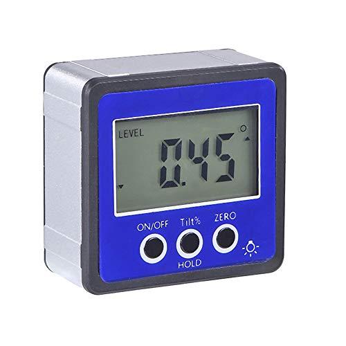 KKmoon Winkelmesser Neigungsmesser Wasserwaage Wasserdicht Bevel Box Winkelmessgerät Digitaler LCD Inklinometer Blau