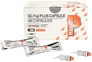 GC America 425030 Fuji Plus Resin Modified Glass Ionomer Luting Cement Capsule, Yellow (Pack of 48)