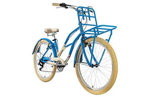 KS Cycling Beachcruiser 26'' Kahuna blau Frontgepäckträger RH41cm