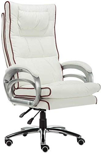 Cozy Executive Recline With 76 Cm High Back Large Seat And Tilt Function PU Leather Padding Desk Chair Computer Chair Massage Lumbar Pillow Desk Racing Chair