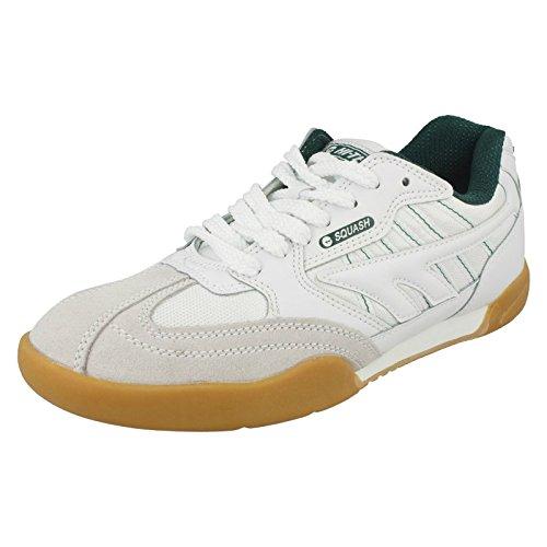 Hi-Tec Unisex Adultes Squash Classic Court Trainers - Blanc ( Blanc / Vert 011 ), 10 UK (44 EU)