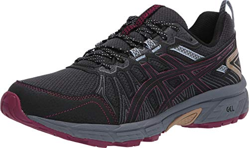 ASICS Women's Gel-Venture 7 Running Shoes, 7.5M, Graphite Grey/Dried Berry