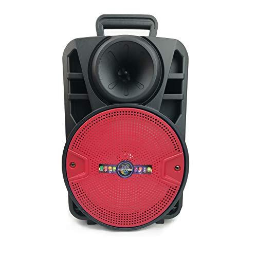 "Altavoz karaoke con micrófono portátil recargable Máquina de Karaoke Portátil con Bluetooth 8""(CH8-Rojo))"