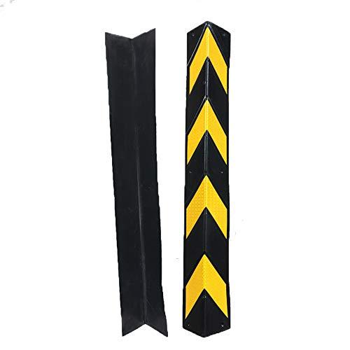 ZQYR Parking# Protectores de Goma para Esquinas para aparcamientos y almacenes, Grosor de 6 mm, Color Negro y Amarillo, Dimensiones 80 x 10 x 0.6 cm (Paquete de 1 Piezas)