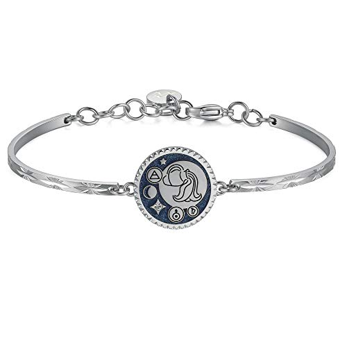 Brosway Damen Armband Chakra Aquarium Stahl blau Emaille und Kristalle BHK377