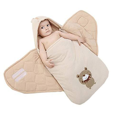 FREEDL Saco De Dormir para Bebe Funda Otoño Invierno con Capucha, Baby Swaddle Wrap Manta Envolvente Suave Gruesa Manta Dormir para El Bebé, Saco De Dormir Bebé Sin Mangas para 0-12 Meses 80cm Gris