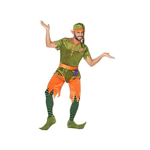 Atosa-56491 Disfraz Duende, Color Verde, M-L (56491)