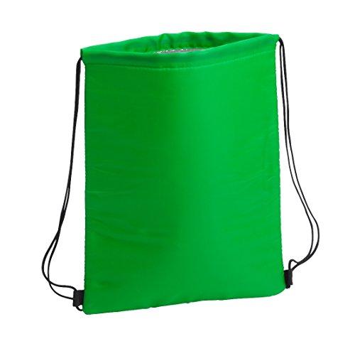 sin4sey 2X raffreddamento sacchetto Sport Borsa frigo frigorifero Ruck Sack Sacca con pellicola isolante, verde