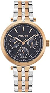 Police Sesma Analogue Rose Gold Case, Blue Dial And Silver And Rose Gold Watch For Women - PL 15890BYR-03MTR