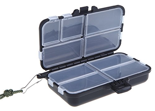 SaySure - Fishing Tackle Box Fly Fishing Box Spinner Bait Minnow Popper 9 Compartments Fishing Accessories - GMN-BG-SPT-000465