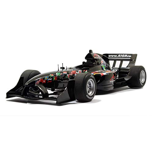 GAOQUN-TOY Modèle de Voiture Décoration Rally Racing Alto Formula Racing Modèle 1:18 Simulation Alliage De Voiture (Couleur : Noir, Taille : 26CM*10CM*5CM)