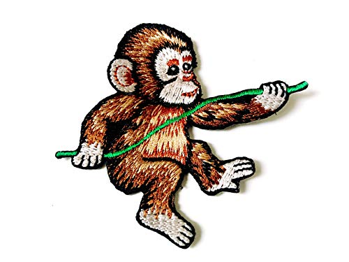 Baby Monkey Little Animal Cartoon Sew Iron on Embroidered Applique Badge Sign Patch Clothing
