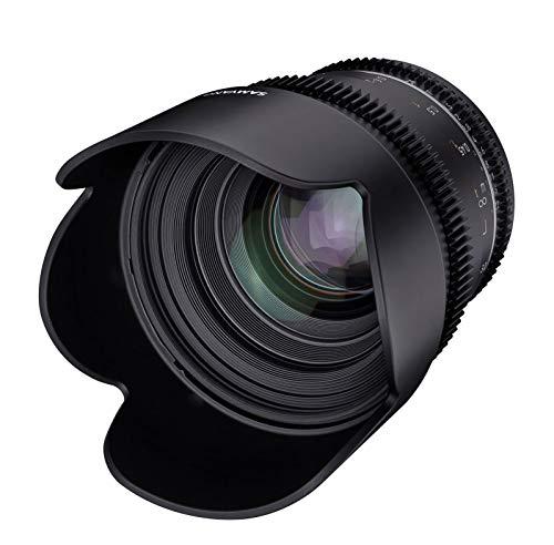 Samyang MF 50mm T1,5 VDSLR MK2 Canon M – lichtstarkes T1,5 Normal Cine- und Video Objektiv für Canon M Mount, 50 mm Festbrennweite, Follow Focus Zahnkränze Vollformat und APS-C, 8K Auflösung
